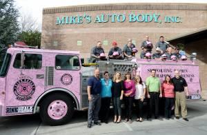 Fairfield team with helmets & fire truck